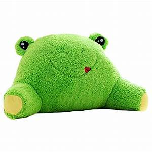 mlotus cute frog bedrest reading arm pillow back support With cute bed rest pillow