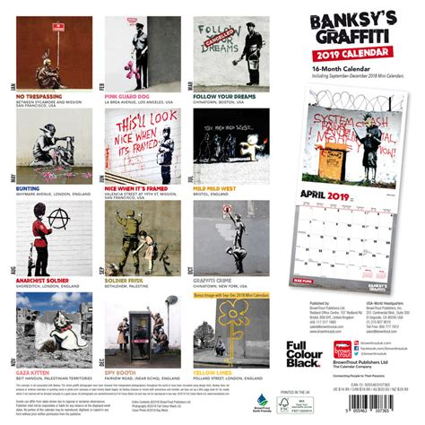 banksy graffiti calendars ukpostersukposters