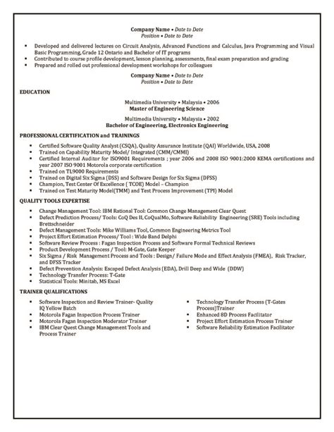 resume exle 55 cv template australia cv format in word