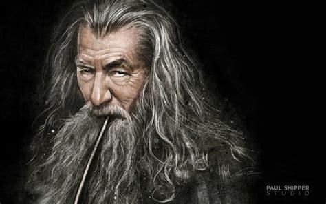 gandalf ian mckellen paintings the hobbit lord of rings
