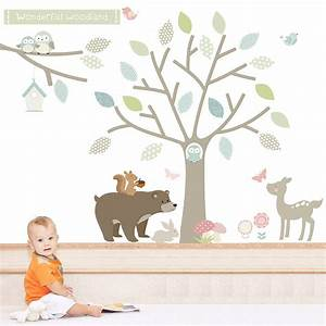 woodland animal wall stickers kamos sticker With wonderful ideas woodland animal wall decals