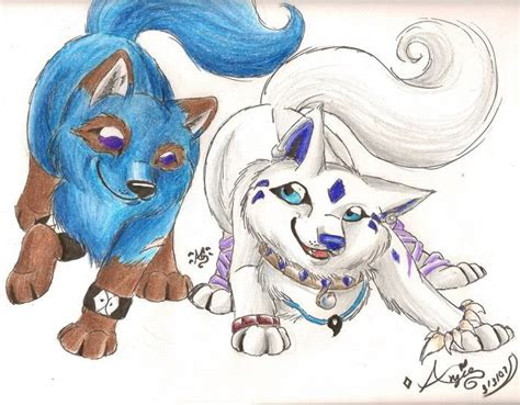 Cute Anime Wolf Puppies