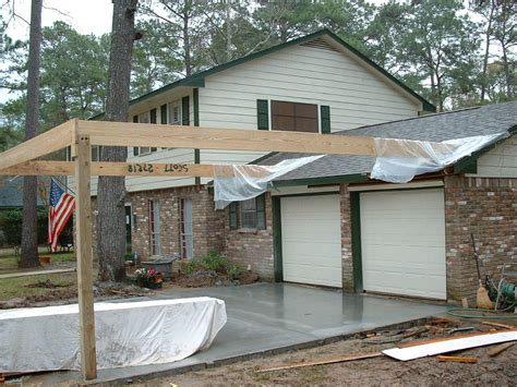 Add Garage Door To Carport by Carport In Front Of Garage Search Small Yard