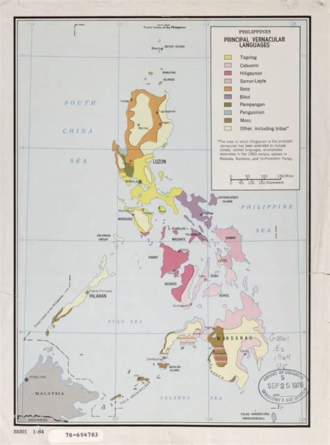 philippines principal vernacular languages library
