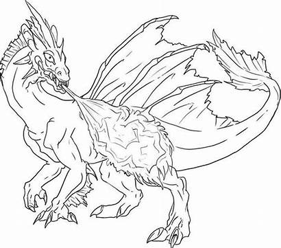 Dragon Template Templates Coloring Fire Pages Shooting