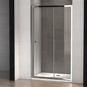 porte de douche coulissante tosca 130 thalassor With porte de douche coulissante avec meuble de salle de bain 130 cm