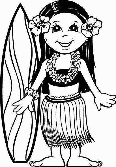 Coloring Pages Luau Hawaiian Hawaii Printable Crafts