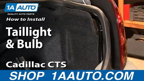 install replace taillight  bulb cadillac cts