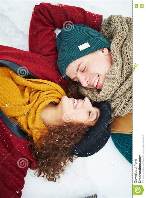 Young Sweethearts Stock Photo Image Of Amorous Christmas