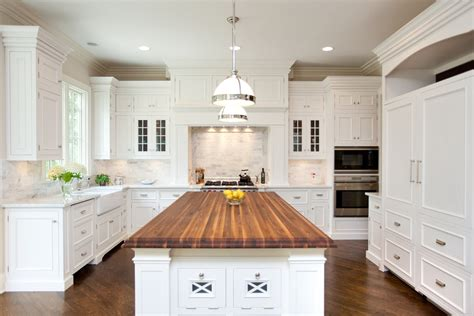 kitchen island with chopping block top chicago illinois interior photographers custom luxury home 9428