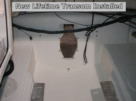 Boat Transom Replacement Cost by Transom Repair Tanis Research And Design Llc