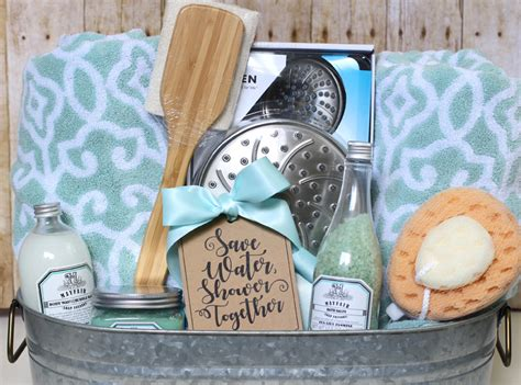 Shower Themed Diy Wedding Gift Basket Idea