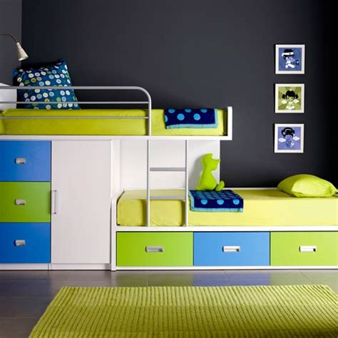 cool space saving beds lime green blue bunk beds panda s house