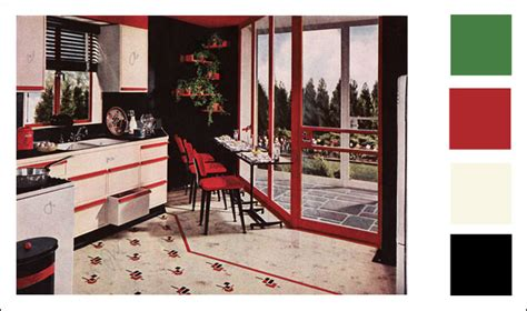 livingroom color schemes original deco kitchens from the 1920s to 1940s
