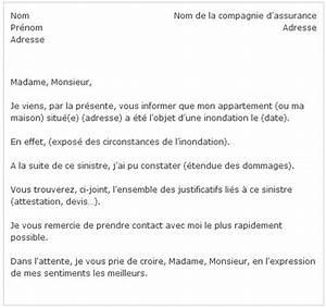 Lettre Declaration Sinistre : assurance inondation que faire ~ Gottalentnigeria.com Avis de Voitures