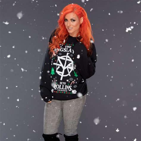 wwe divas christmas sweaters photoshoot   gotceleb