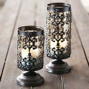 Retro, Candle, Holder, Glass, Candlestick, Iron, Candelabra, Decorative, Lantern, Glass, Wind, Lamp