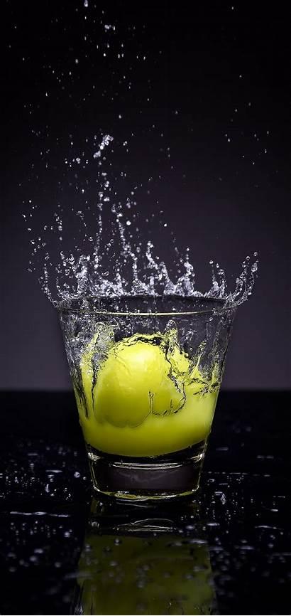 Lemon Glass Water Spray 1440 3040 Wallpapers
