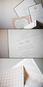silver smock With annie p paperie wedding invitations