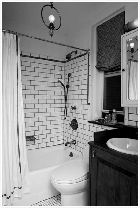 home design black  white subway tile bathroom designs