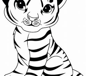 Baby Tiger Coloring Pages Simple Coloring Pages Simple