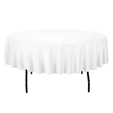 96 inch round table what size tablecloth for 60 inch round table