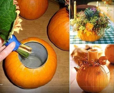 pumpkin vase 20 candle holder ideas for thanks giving day pretty designs