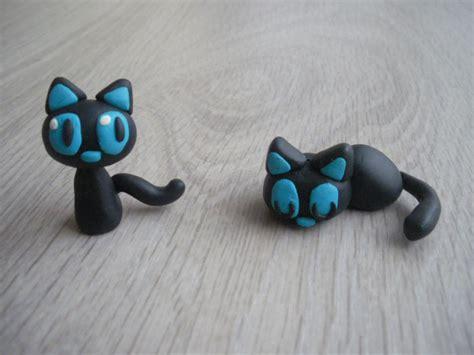 chat en pate fimo figurines en pate fimo c le de