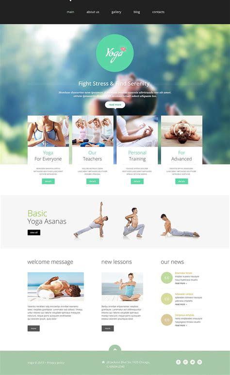 yoga club website template