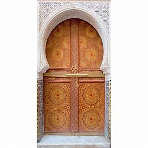 Tableau Porte Orientale : sticker porte trompe l 39 oeil orientale stickers muraux deco ~ Teatrodelosmanantiales.com Idées de Décoration