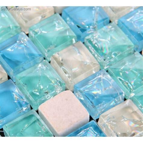 mosaic sheets sea blue glass wallcover mosaic