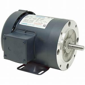 1  3 Hp 1800 Rpm 230  460 Volt Ac 3ph S56c Leeson Motor