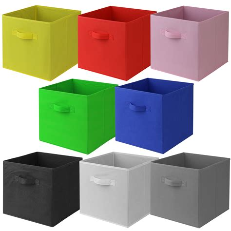storage box hartleys square foldable fabric canvas storage box tidy