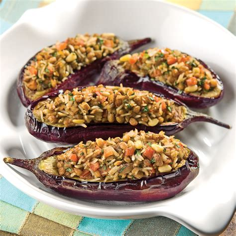 cuisine grecque recettes aubergines farcies à la grecque recettes cuisine et