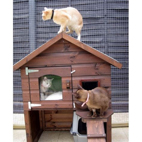 The Cat House by Outdoor Large Luxury Cat House And Chalet