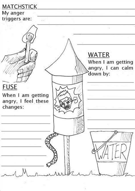 anger management worksheets  teens pshelessonsheet