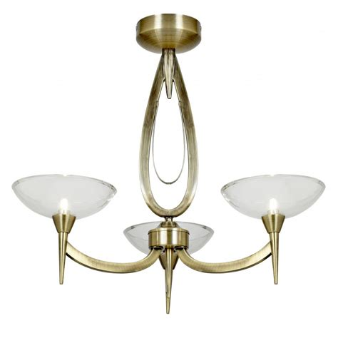 harrison 3ab 3 light ceiling fitting in antique brass