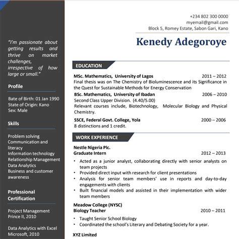 write a winning cv vacancies nigeria