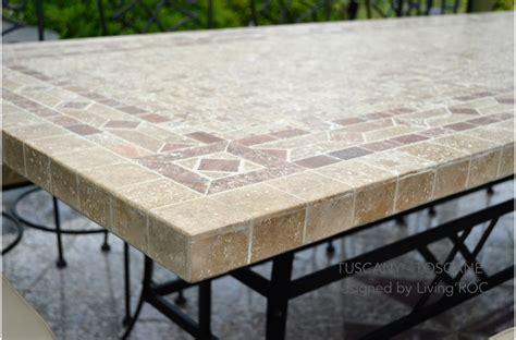 "78"" Outdoor Patio Dining Table Italian Mosaic Stone Marble   TUSCANY"