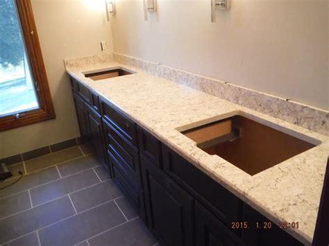 lg viatera aria quartz kitchen install   foster