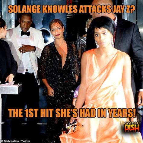 Solange Knowles Meme - solange and jay z memes sent internet into overdrive daily mail online