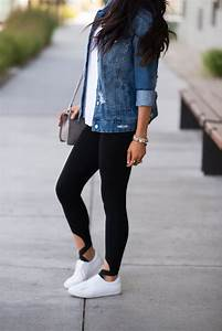 Simple Leggings + Denim Jacket