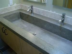 Custom Concrete Trough Sink - Brooks Custom