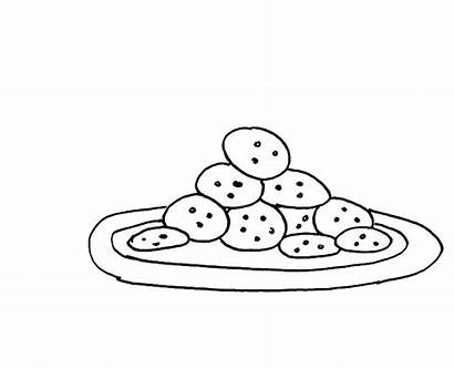 Coloring Pages Cookie Cookies Plate Ice Cream