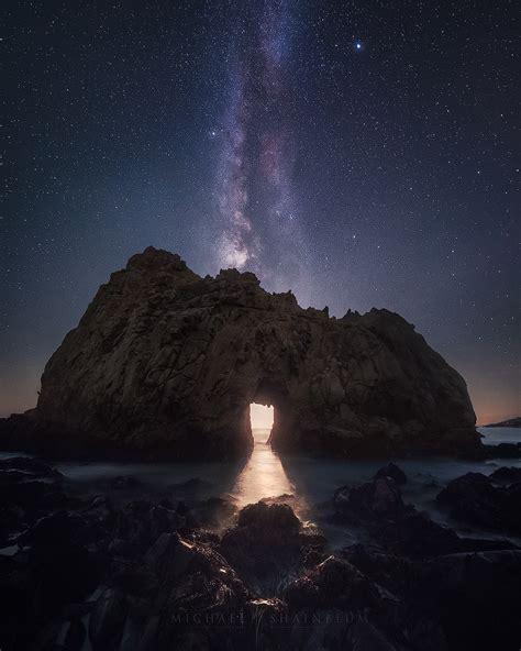 Big Sur California Milky Way Moonlight Arch Michael
