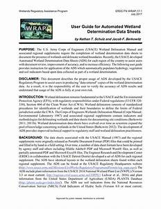 Pdf  User Guide For Automated Wetland Determination Data