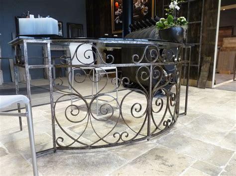 bureau plateau verre antique balcony railings converted to glass top desk