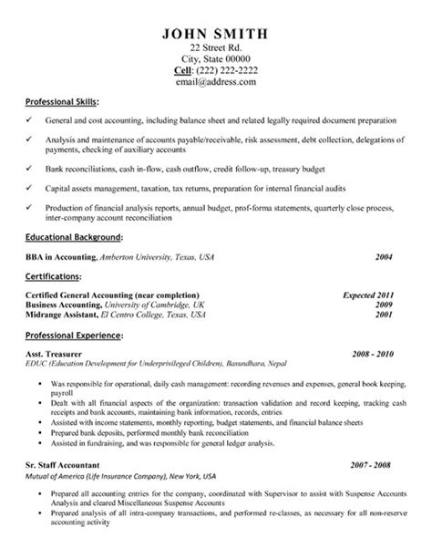 resume sle for accounting 28 images accountant resume 28 sle resume accounting enernovva org
