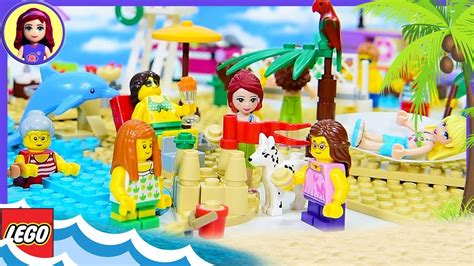 Fun At The Beach Lego City With Lego Friends Seaside Build