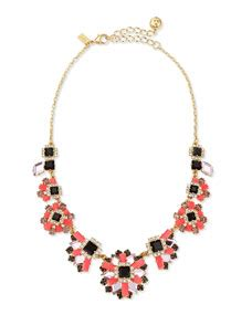 2033 kate spade flower necklace kate spade new york space age floral statement necklace